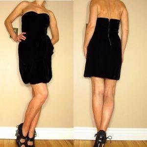 🆕 Marc Jacobs Black Velvet Corset Strapless Dress